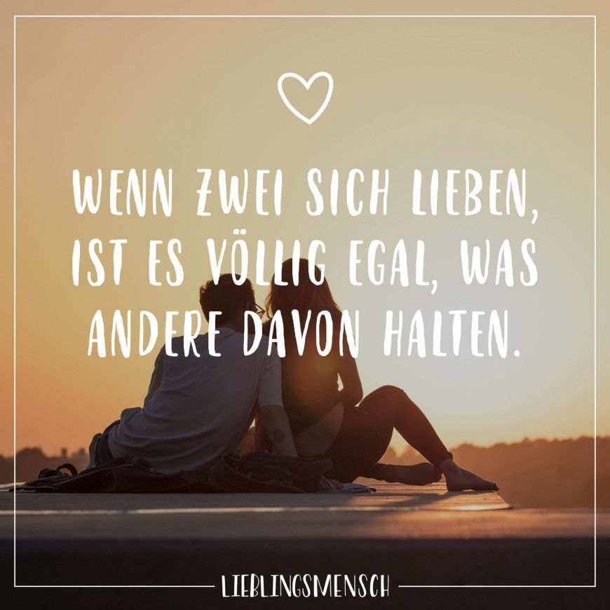 Visual Statements®️ Wenn zwei sich lieben, ist es völlig egal, was andere davon halten. Sprüche / Zitate / Quotes / Lieblingsmensch / Freundschaft / Beziehung / Liebe / Familie / tiefgründig / lustig / schön / nachdenken