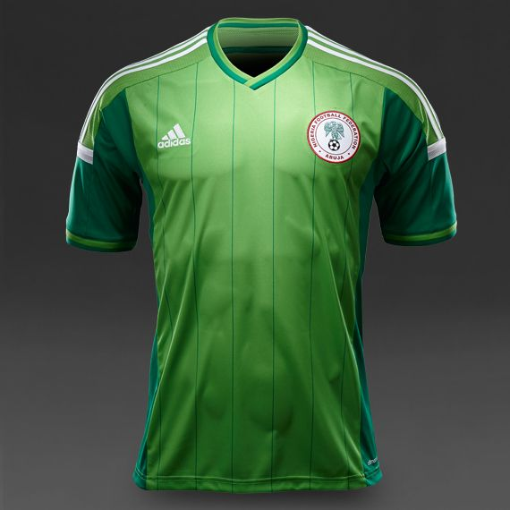 factory authentic 0deb9 e8ff4 adidas Nigeria FF Home Jersey - Intense Green/White/Twilight ...