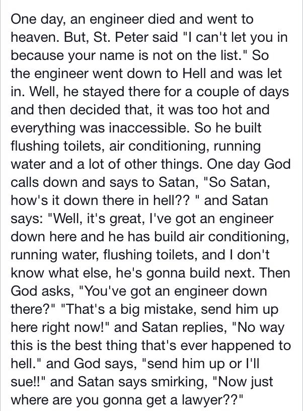 Engineer And Lawyer Joke Rolled Into One Husband Is An Engineer