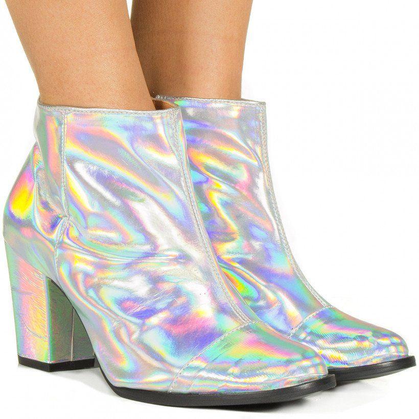 f4c7a6571 Bota holográfica prata Taquilla - Taquilla - Loja online de sapatos  femininos