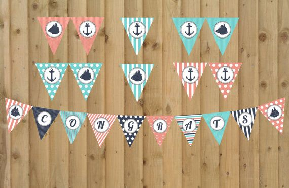 INSTANT DOWNLOAD  Nautical Themed Baby Shower by JamesPaigeDesign