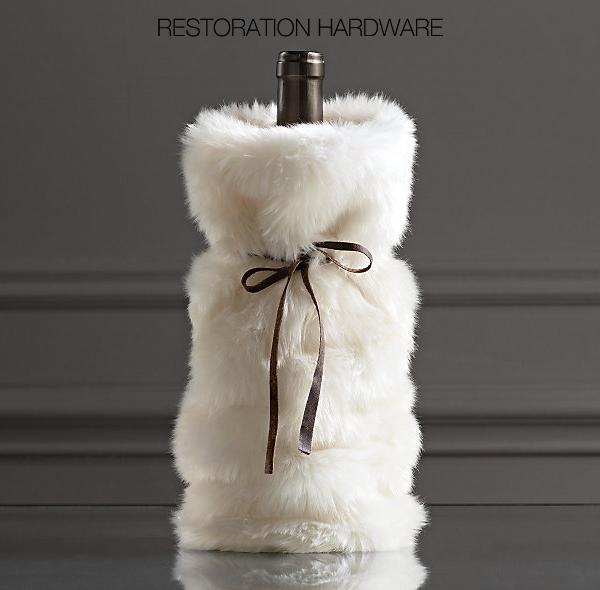 DIY Restoration Hardware Faux Fur Wine Bag  65a41b943e41e