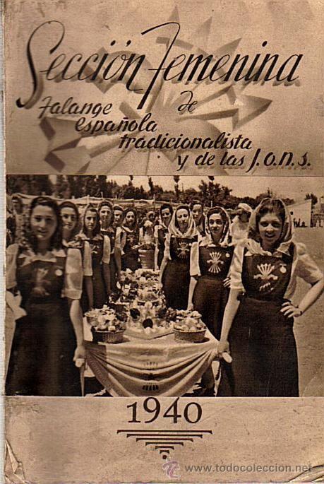 LIBRO/CALENDARIO SECCION FEMENINA DE LA FALANGE ESPAÑOLA ...