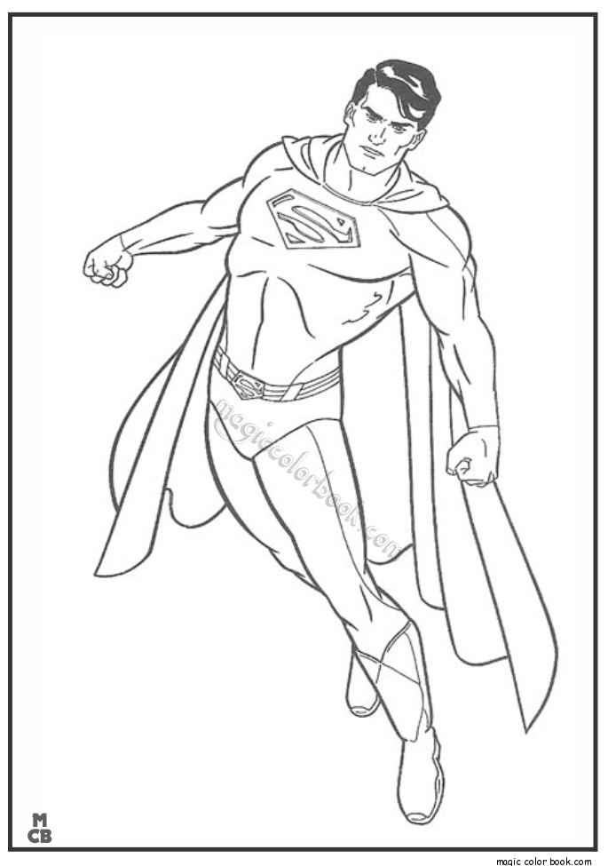 Make A Fist Hand Superman Coloring For Kids