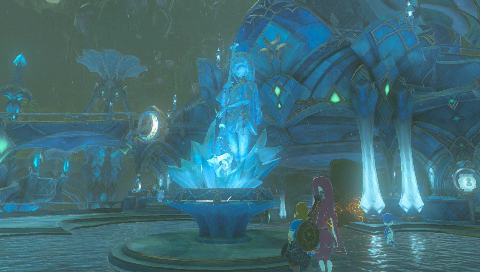 Dominios Zora The Legend Of Zelda Breath Of The Wild Breath Of The Wild Legend Of Zelda Anime Background