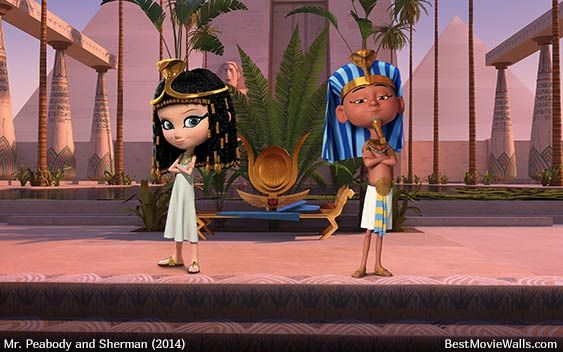 A Wallpaper From Mr Peabody And Sherman With Penny And King Tut