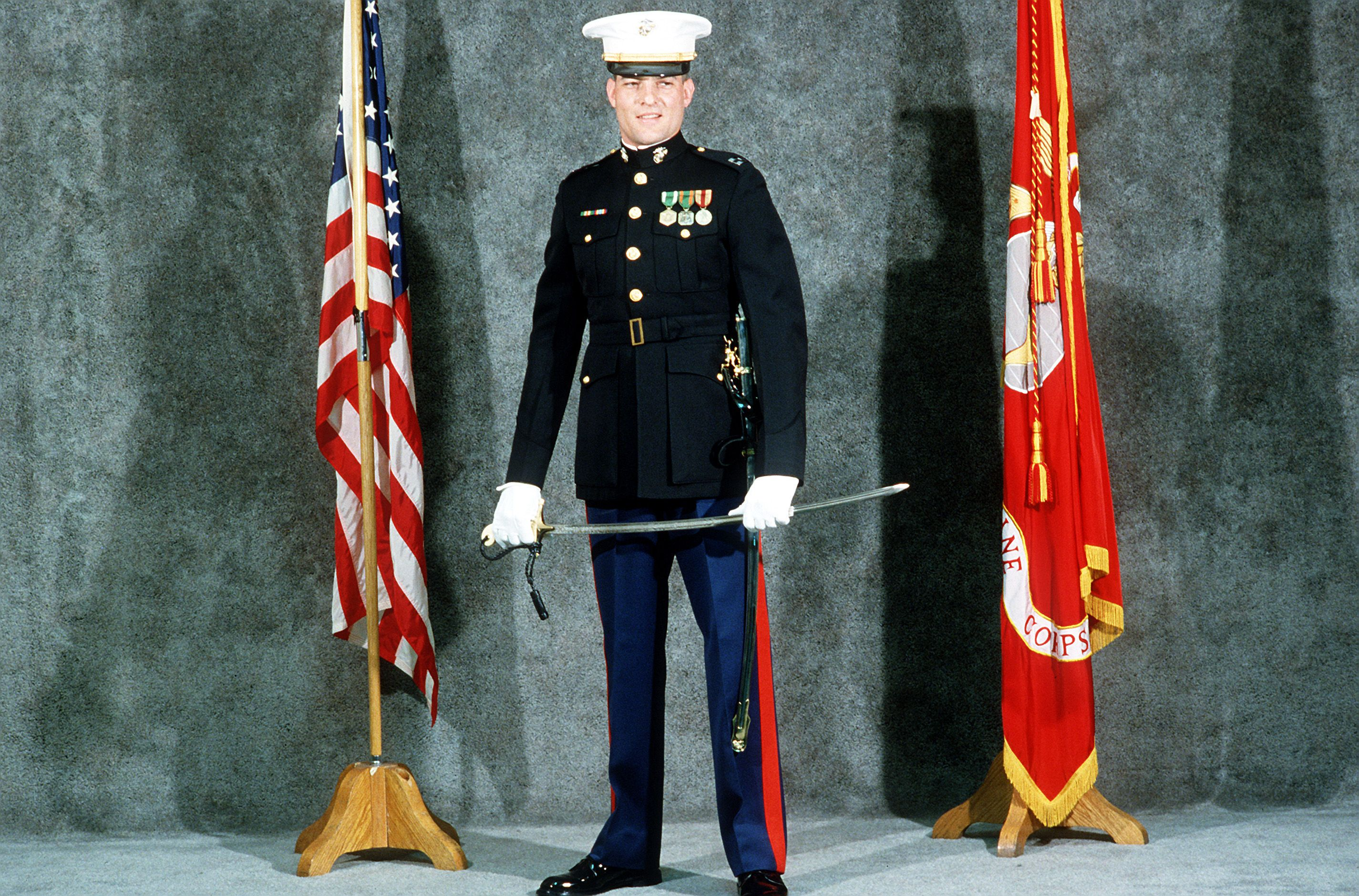 Nathan S Father Wears Marine Dress Blues To His Wedding The Ceo Buys In Camouflage Dress Marines Dress Blues Female Navy Officer [ 1880 x 2850 Pixel ]