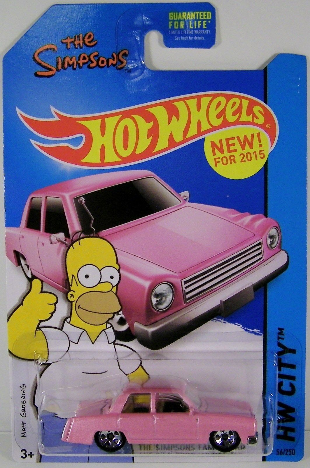 Hot Wheels 2015 Hw City The Simpsons Family Car Die Cast Vehicle