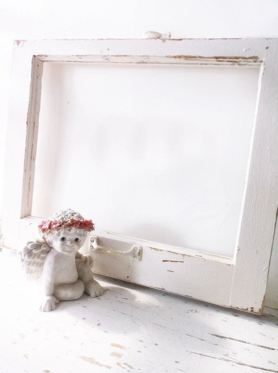 Salvage Window Frame. Altered Art Wall Frame. by 3vintagehearts ...