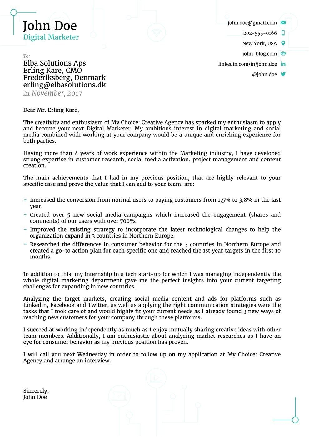 Creative Cover Letters Top 8 Cover Letter Templates Use