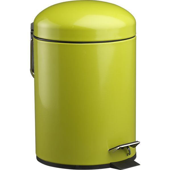 Green Bullet 1.3-Gallon Trash Can. Although it's so adorable, you might not want to throw your garbage in it.