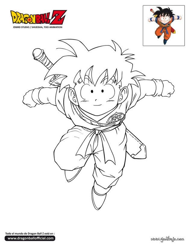 Colorear en línea | DB | Pinterest | Dragon ball, Dbz and Dragons