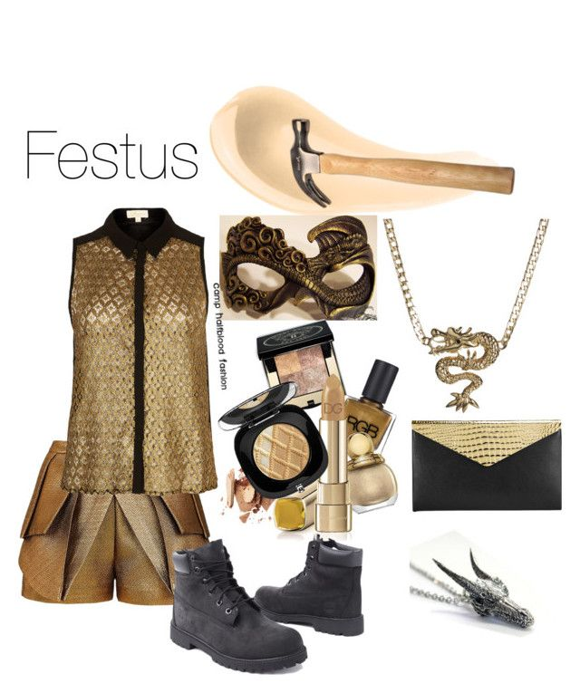 """Festus the Dragon"" by camp-halfblood-fashion ❤ liked on Polyvore featuring NARS Cosmetics, Vero Moda, sass & bide, Goldie, Timberland, Jimmy Choo, percyjackson, dragon, pjo and HoO"
