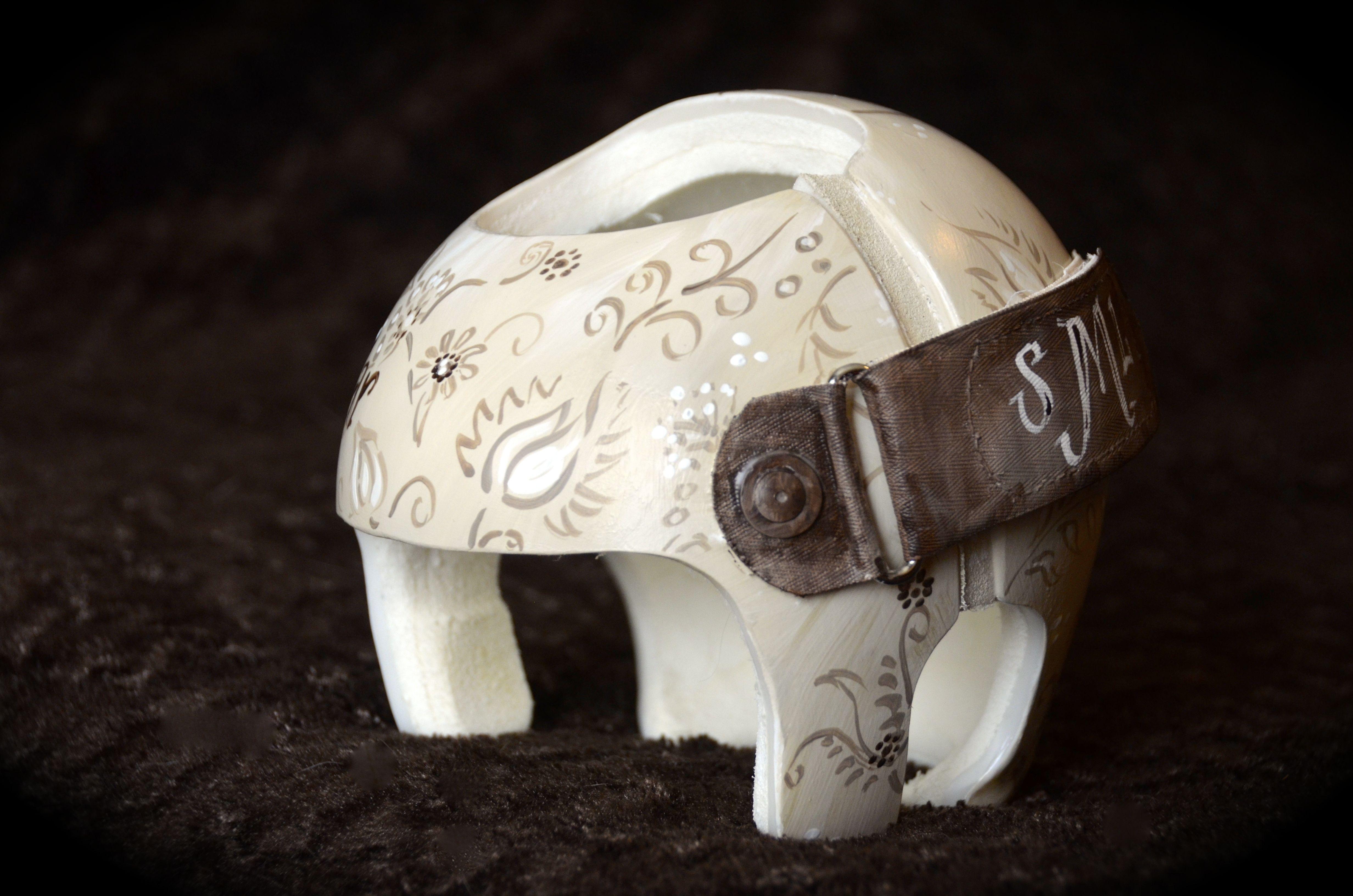 neutral cream and expresso design cranial band starband helmet neutral cream and expresso design cranial band starband helmet