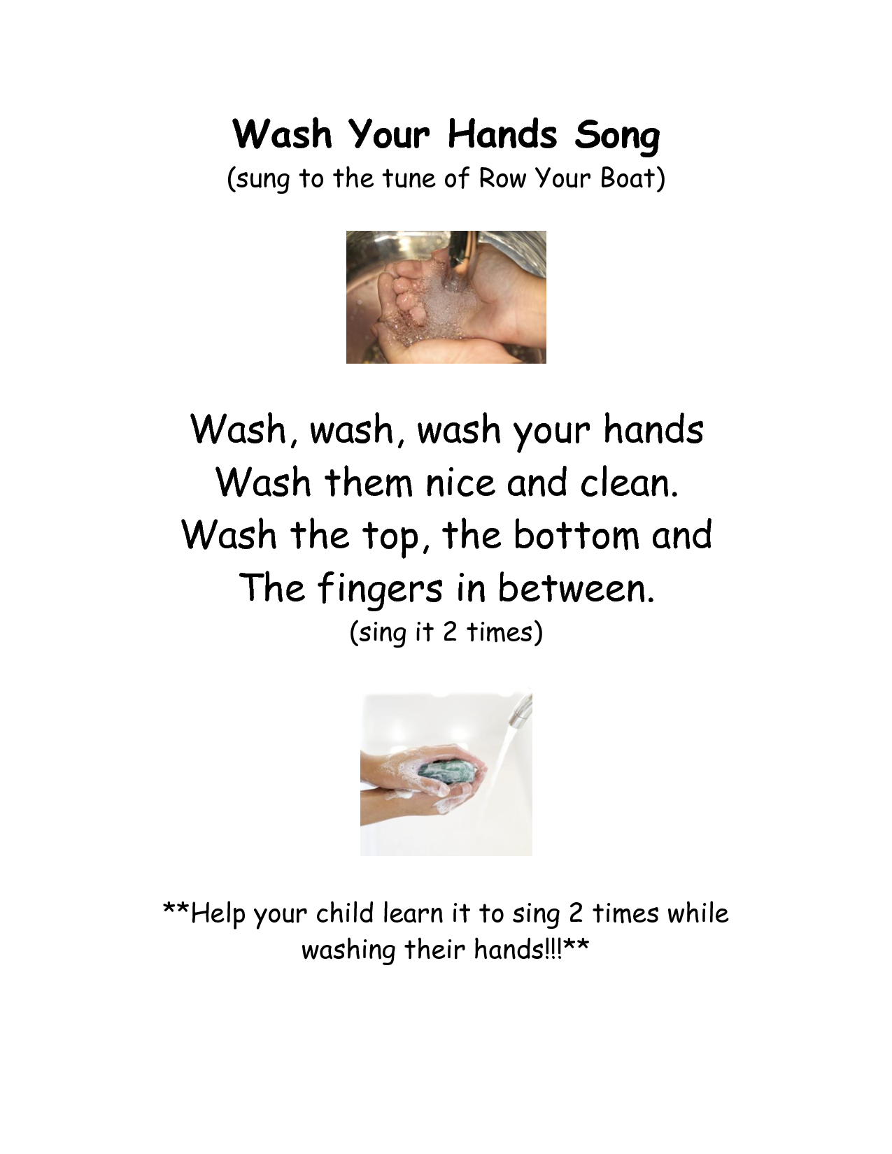 Wash Your Hands Template