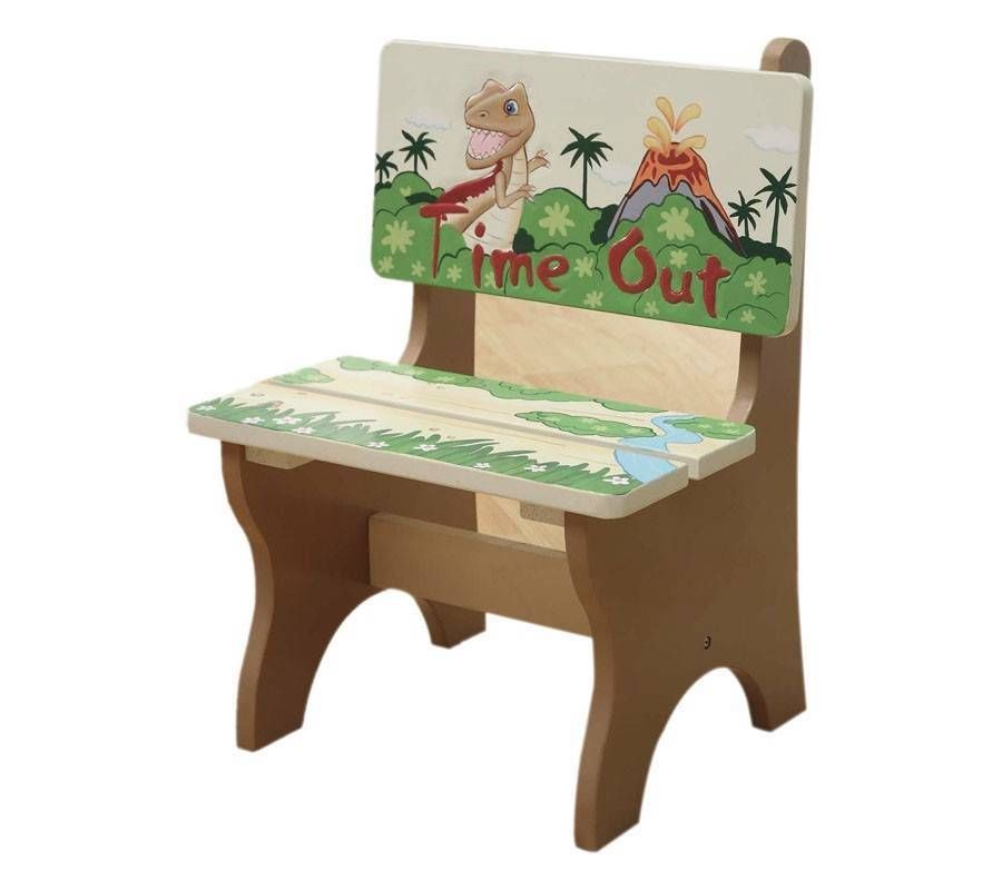 Handcrafted and Hand Painted Teamson Dinosaur Time Out Chair ...