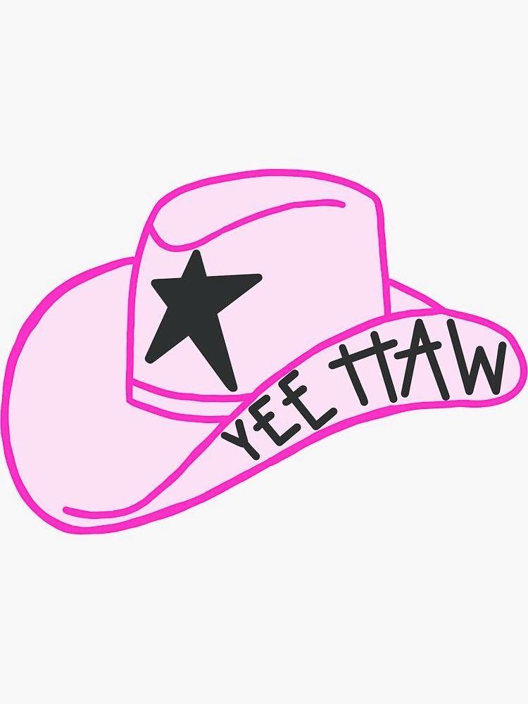 cute cowboy hat  Sticker