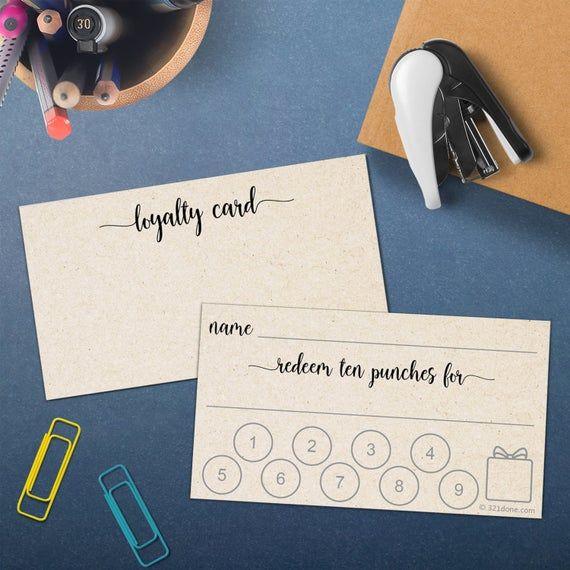 Punch Card Or Customer Loyalty Reward Card 50 Cards Small Etsy Loyalty Reward Card Customer Loyalty Cards Punch Cards