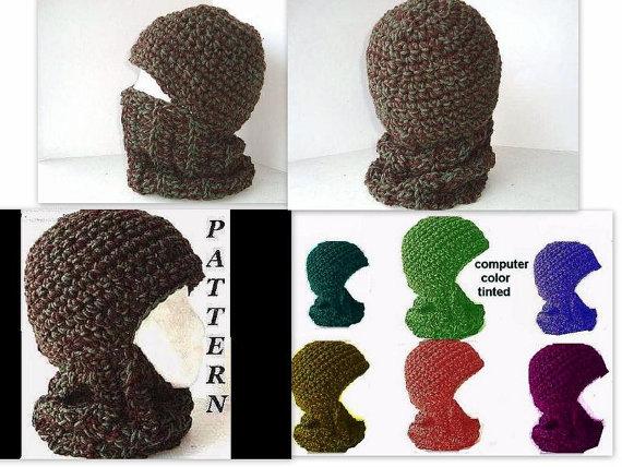 Crochet Hat Pattern Crochet Ski Mask Balaclava Ski Hat Adult