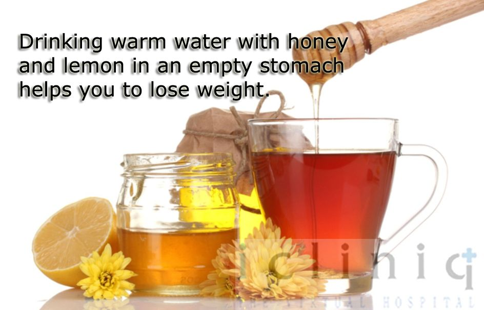 #Drinking warm water with #honey and lemon in an empty stomach #helps you to lose weight.