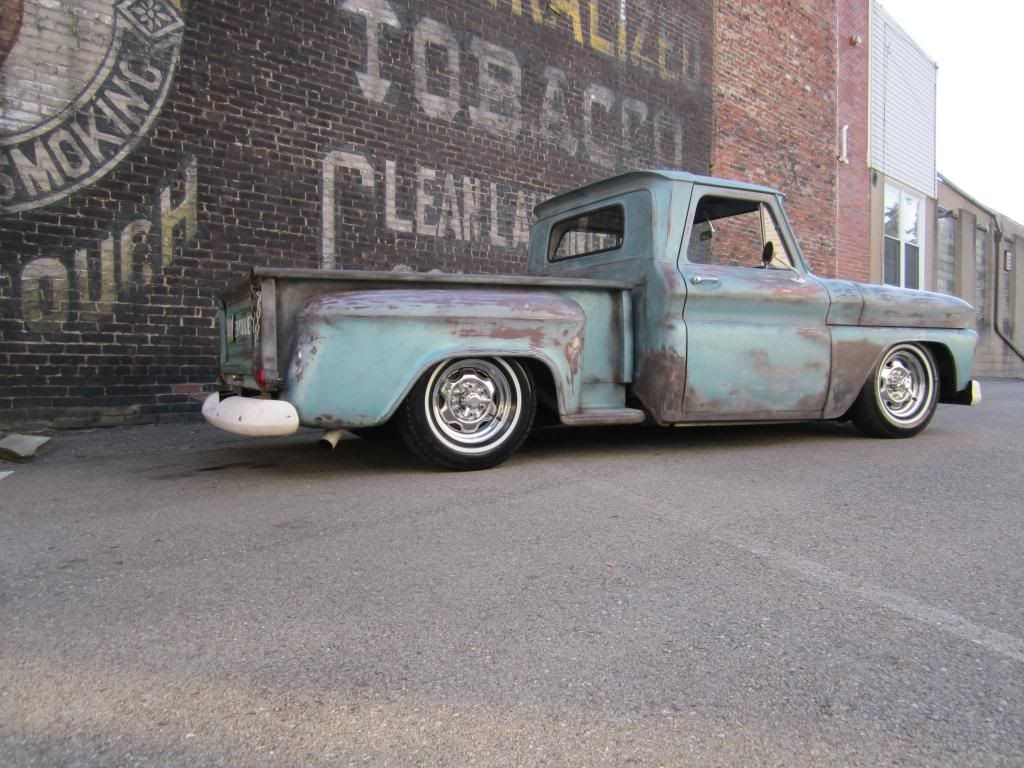 1966 chevy short bed step side bagged rat rod shop truck air ride patina in motors cars trucks chevrolet