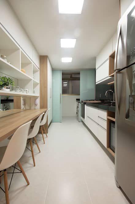 2015) Apartamento Santa Rosa Cozinhas modernas por Escritório Ana