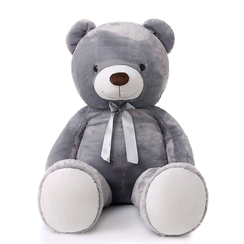 Amazon Com Morismos Giant Cute Soft Toys Teddy Bear For Girlfriend Kids Teddy Bear Pink 47 Inch Teddy Bear Stuffed Animal Bear Stuffed Animal Giant Teddy [ 1500 x 1500 Pixel ]