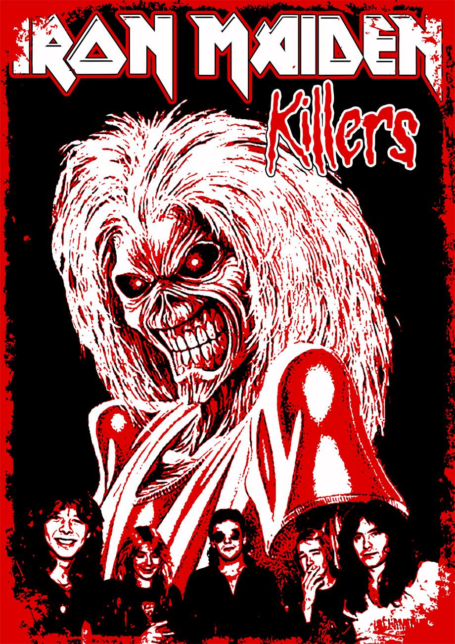 Killers Iron Maiden By Crusader Art Rock Musique Steve Harris