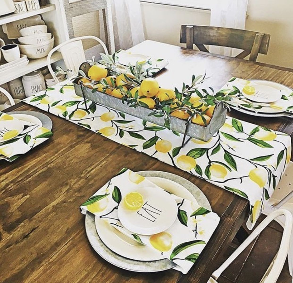 Omg I Love This Table Setting Lemons Lemondecor