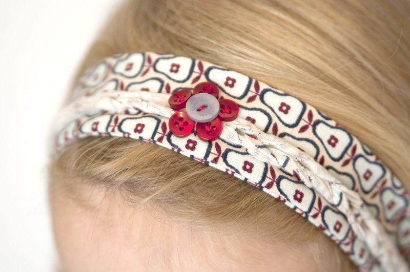 Heute im Blog: Aus Stoffresten ganz einfach ein Haarband nähen. Das ...
