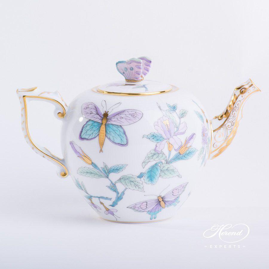 Tea Pot Royal Garden Turquoise Precious Pots Coffee