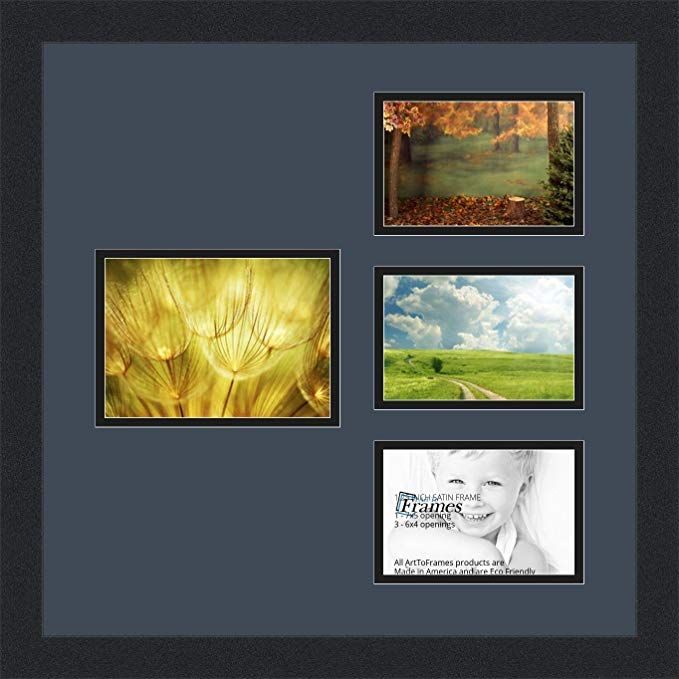 Arttoframes Collage Photo Frame Double Mat With 1 5x7 And 3 4x6