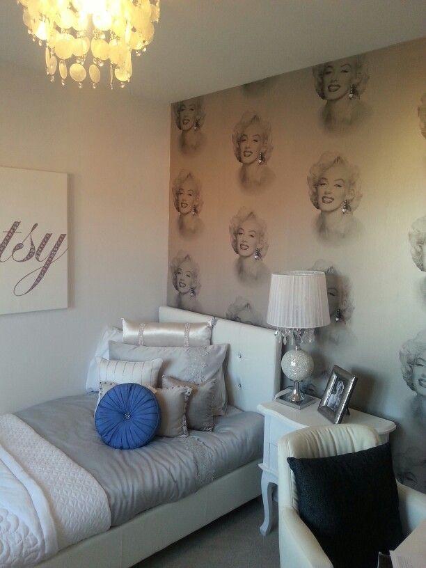 Marilyn Monroe Wallpaper Wall Marilyn Monroe Bedroom Home Decor Marilyn Monroe Wallpaper
