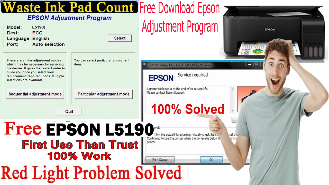 Download Epson L5190 Resetter Tool Epson Epson Printer Free Download