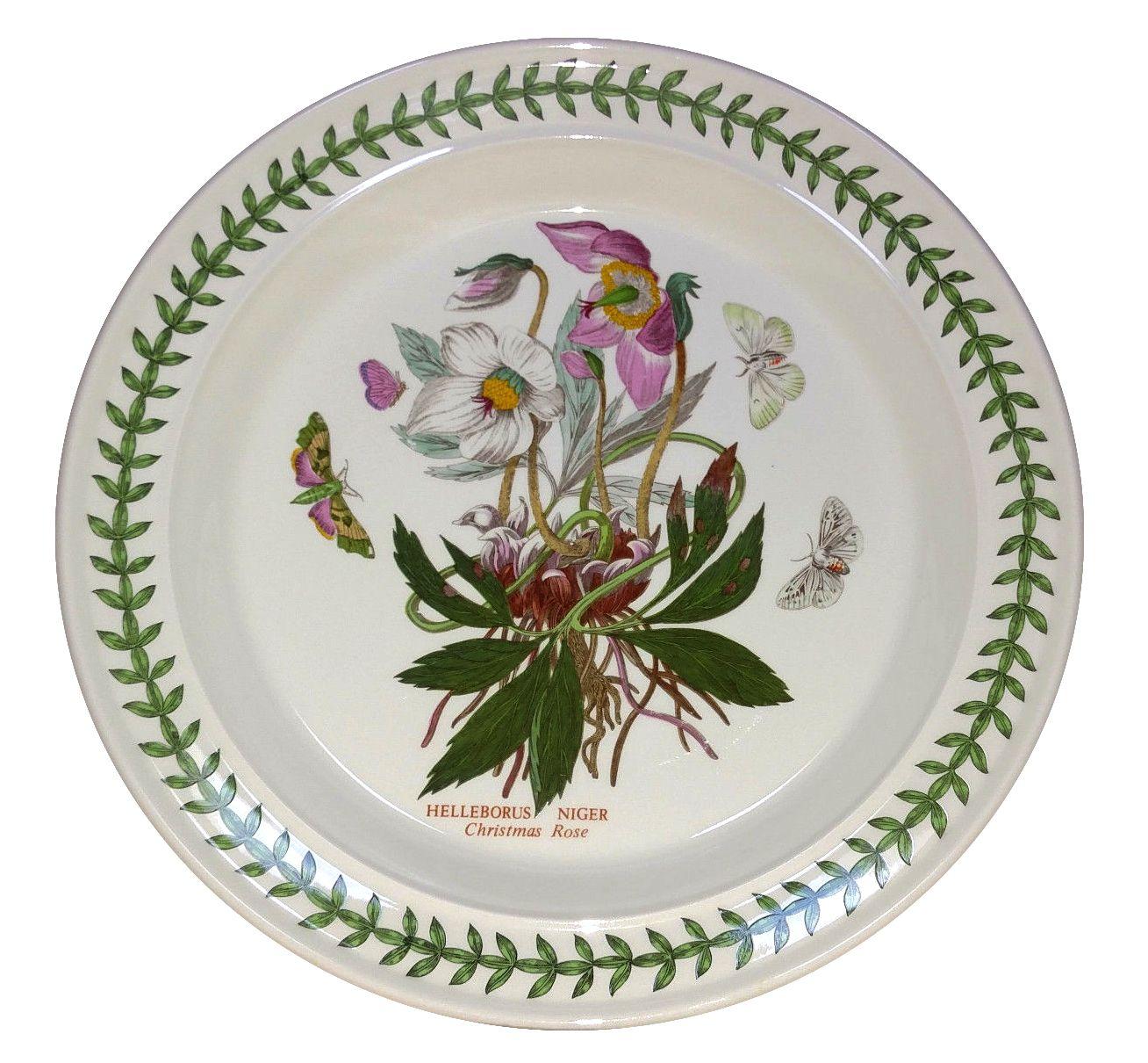 Portmeirion Botanic Garden 10 5 Dinner Plate In Christmas Rose