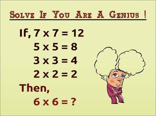 90 Fail To Answer If 7x712 5x58 3x34 2x22 Fun Things To