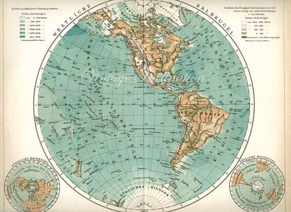 1905 12 antique vintage northern hemisphere world map leipzig 1905 12 antique vintage northern hemisphere world map on etsy 2391 cad gumiabroncs Images