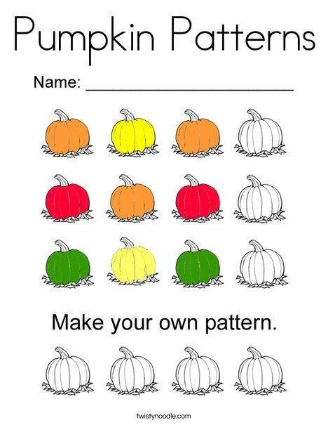 Pumpkin Patterns Coloring Page - Twisty Noodle | Pumpkin ...