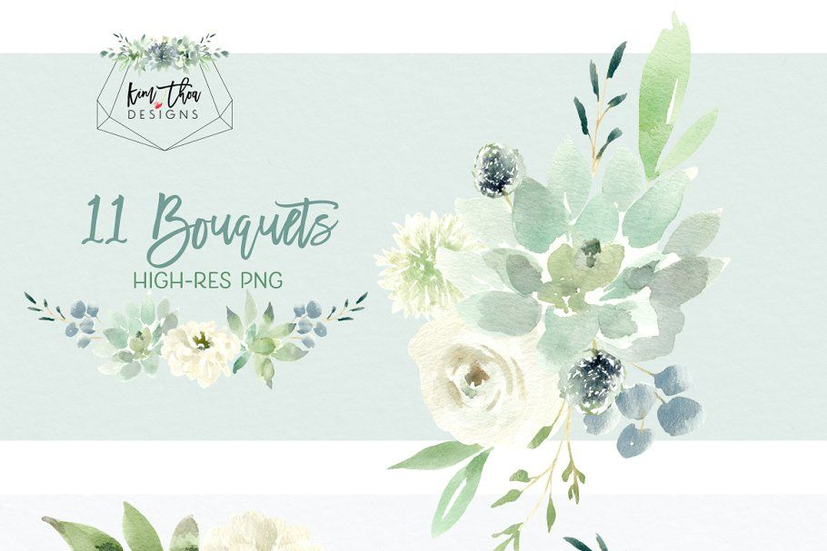 1k Watercolor Flower Clipart And Floral Designs Flower Clipart
