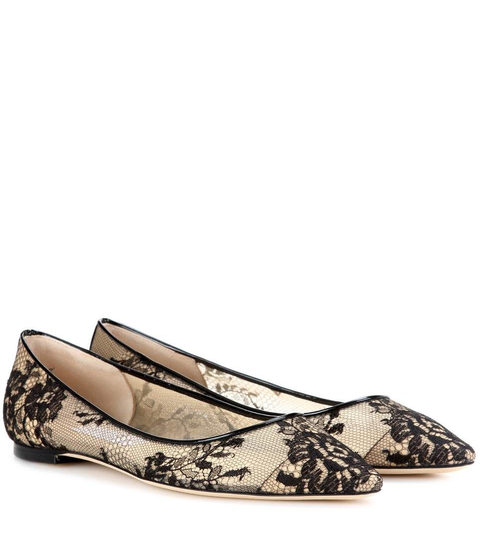 Cheap Countdown Package Sale Best Place Romy Flat lace ballerinas Jimmy Choo London VpUFi1
