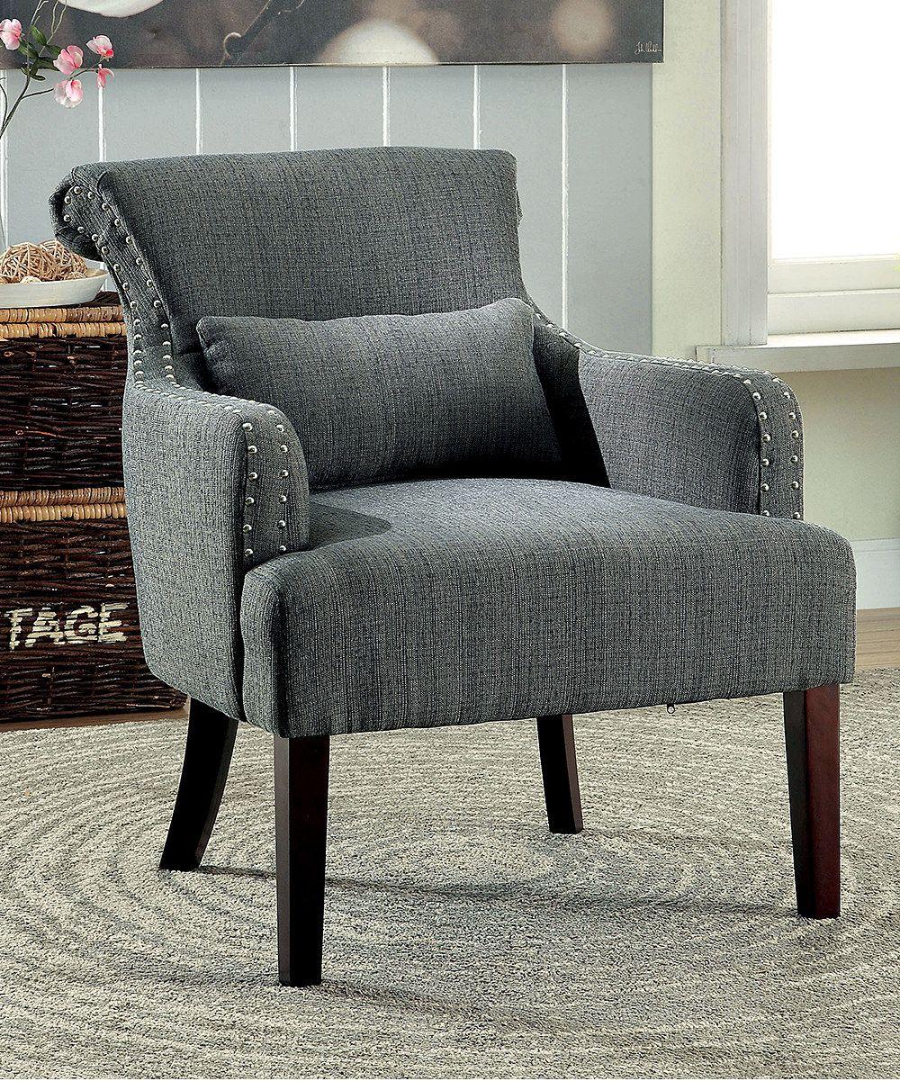 Cool Look At This Gray Venetta Modern Accent Chair On Zulily Creativecarmelina Interior Chair Design Creativecarmelinacom
