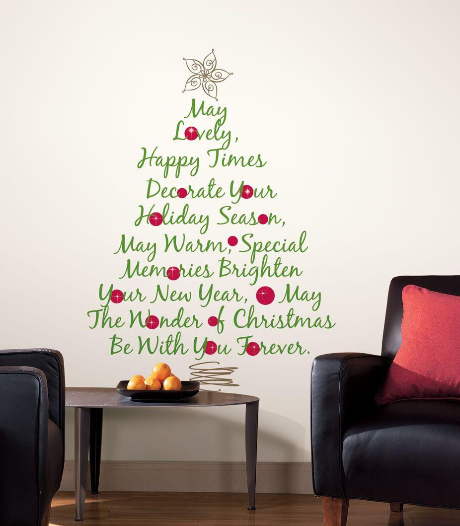Christmas tree wall decal christmas ideas pinterest tree christmas tree wall decal amipublicfo Choice Image
