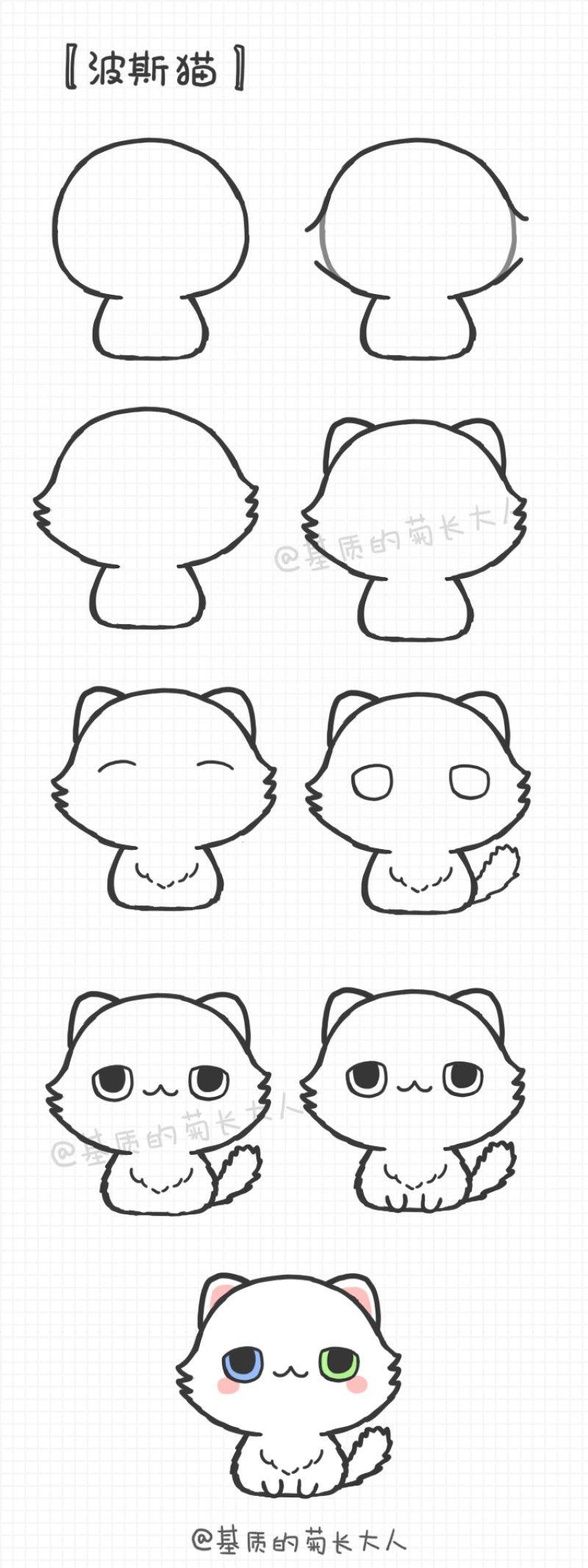 堆糖 美好生活研究所 Cute Animal Drawings Chibi Drawings Kawaii Drawings