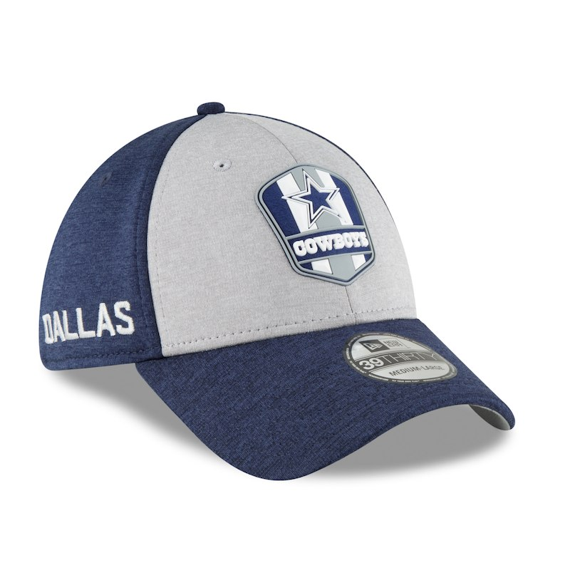 Dallas Cowboys New Era Youth 2018 NFL Sideline Road 39THIRTY Flex Hat –  Heather Gray Navy 536352455