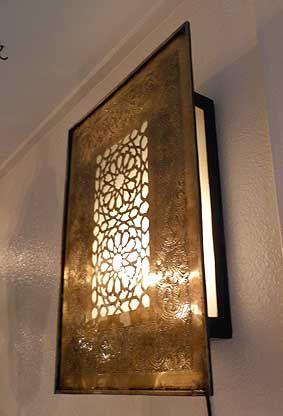 Gadan 照明 モロッコランプ 壁掛ランプ 真鍮ブラケット