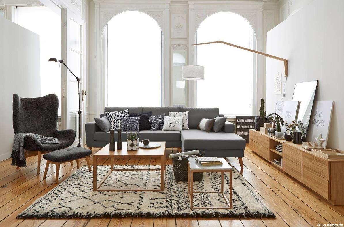 Scandi living-room #31metrescarres   Scandi/50\'s/natural decoration ...