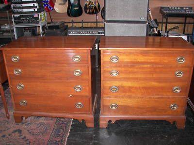 Willett Solid Elswick Cherry Antique 50's Dresser Set - Willett Solid Elswick Cherry Antique 50's Dresser Set Willett