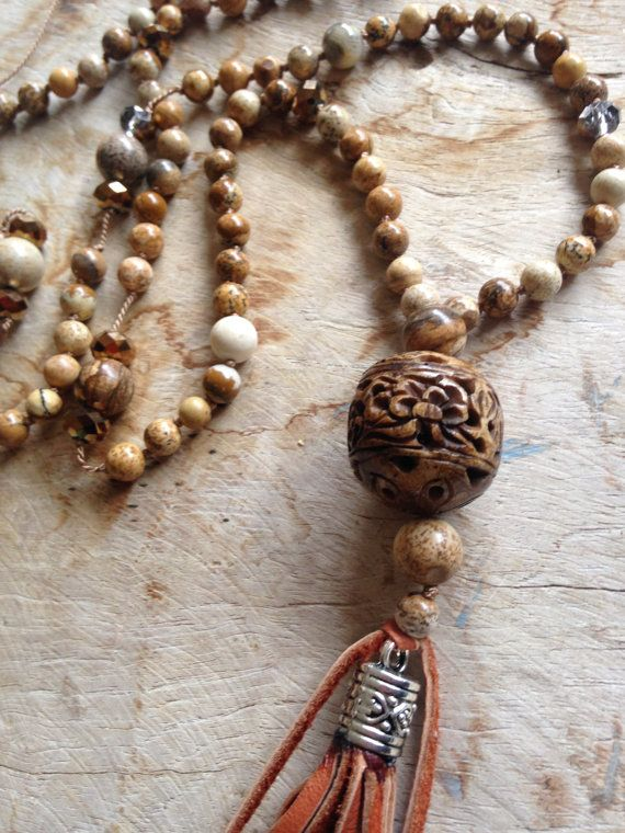 SALE Fifty shades of brown stones wood and by JulieMoloneyDesigns