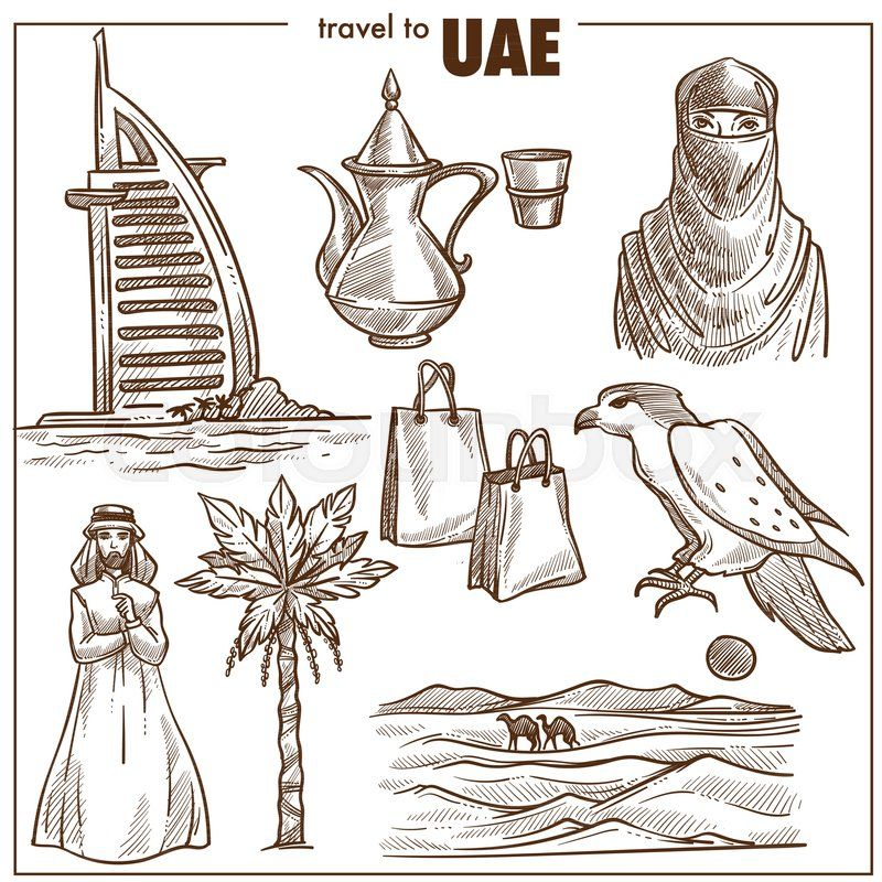 Image Result For Uae Culture Sketch Sketches Travel Sketches