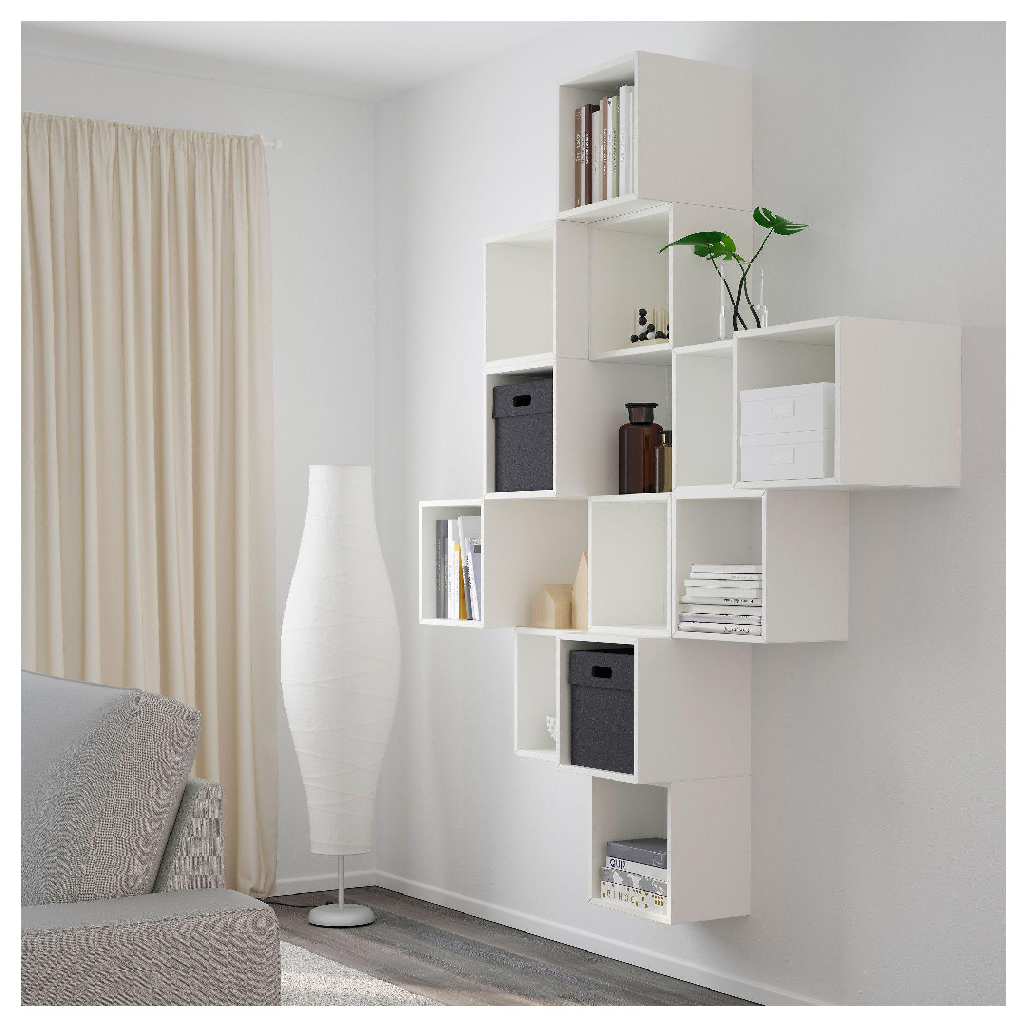 Libreria Da Parete Ikea eket wall-mounted cabinet combination - white 68 7/8x13 3
